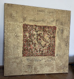 Luminita Feodoroff-- tablou -- 70x70cm -- tehnica mixta, Abstract, Acrilic