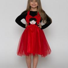 Sarafan-fustă tutu inimă roșie cu pieptar Plușica  by KIDissue, 1-2 ani, 2-3 ani, 3-4 ani, 4-5 ani, 5-6 ani, 6-7 ani, 7-8 ani, 8-9 ani, 9-10 ani, Din imagine