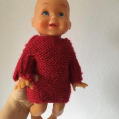 Papusa bebelus Aradeanca Antonel, jucarie romaneasca veche, 30 cm, anii 80