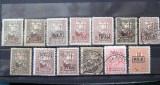 Lot marci postale Timbru de Ajutor cu supratipar MviR, 1917-1918, Nestampilat