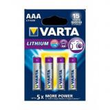 Baterii VARTA ULTRA LITHIUM LR03 / AAA / R03 / MN 2400 1.5V Conținutul pachetului 1x Blister