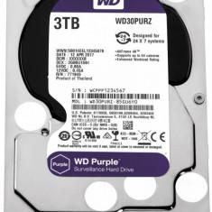Hdd intern wd 3.5 3tb purple sata3 5400rpm 64mb surveillance