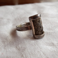 INEL argint TRIBAL AFGHAN reglabil VECHI superb SPLENDID vintage DE EFECT unicat