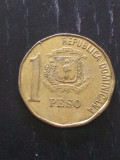 Monedă 1 Peso 1993 Republica Dominicana