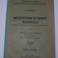 Drept bisericesc comparat, vol.1, Institutiuni drept bisericesc, Vasile Chirvaiu