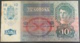 Bancnota ISTORICA 10 COROANE - AUSTRO-UNGARIA (AUSTRIA), anul 1915  *cod 143