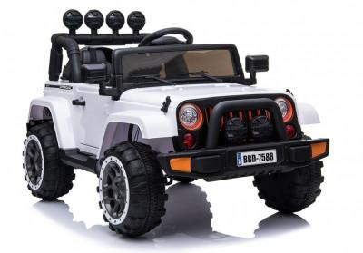 Masinuta electrica Safari Jeep, alb foto