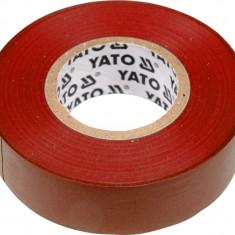 Banda electroizolanta PVC 19 mm x 20 m x 0.13 mm rosie YATO