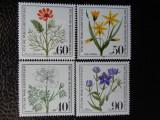 Serie timbre flora flori plante Berlin nestampilate timbre filatelice postale