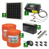 Pachet gard electric cu Panou solar 3,1J putere și 1000m Fir 90Kg cu acumulator
