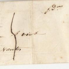 France 1840 Postal History Rare Entire Cover to Nantes DB.088