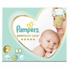 Scutece Pampers Premium Care Mini 2 Mega Box, 4-8 kg, 148 buc