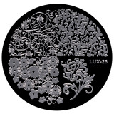 Cumpara ieftin Matrita Metalica Stampila Unghii LUX-23 - Nature