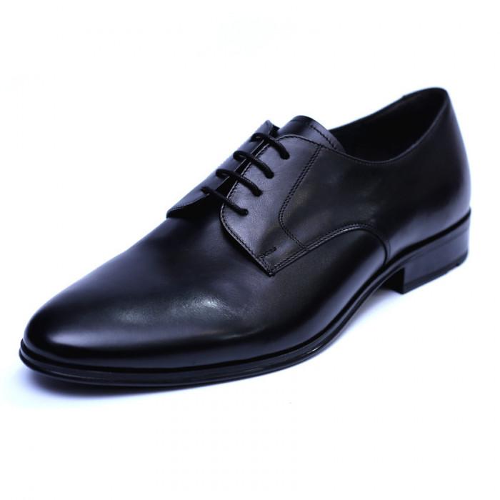 Pantofi barbati din piele naturala, 20s, ANNA CORI, Negru, 40 EU