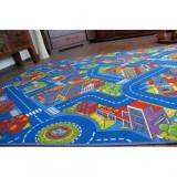 Mocheta Strazi Big City albastru, 400 cm