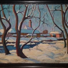 Tablou peisaj de Baia Mare semnat Boromisza Tibor., Peisaje, Ulei, Impresionism