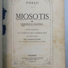MIOSOTIS - POESII de GRIGORIE H . GRANDEA , 1865 , EDITIA I*