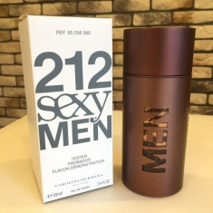 PARFUM TESTER CAROLINA HERRERA 212 SEXY MEN 100 ML