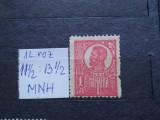 1919-Romania-Ferdinand bust mare 1 leu r0z-1buc.-MNH-RAR