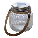 Lampa de masa solara LED tip borcan, 11 x 10 cm