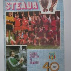 Revista Fotbal Steaua 40 ani din 1987
