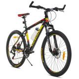 Bicicleta Mountain Bike roti 26 inch, 18 viteze Shimano, cadru aluminiu 18 inch, suspensie pe arc, frane pe disc, MalTrack