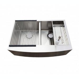 Chiuveta bucatarie INOX cu 2 cuve 838x559x254mm CookingAid Apron Duo Horeca