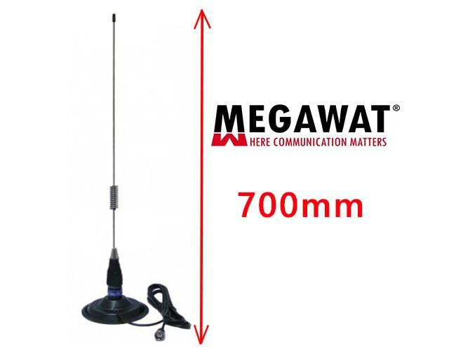 Set Antena Radio CB Megawat ML70 cu Magnet Megawat 145PL
