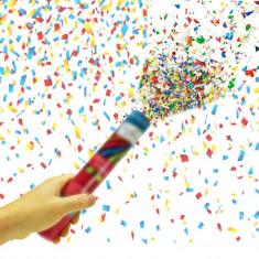 Tun confetti aniversari, 80 cm, forme mixte multicolore