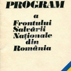 Platforma program a Frontului Salvarii Nationale din Romania