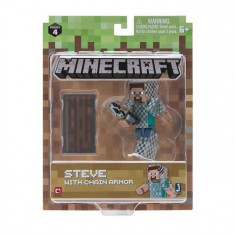 Jucarii Minecraft 3 Action Figure Steve With Chain Armour