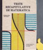 Teste recapitulative de matematica Catalin-Petru Nicolescu