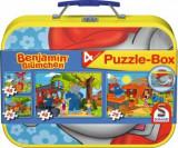 Cumpara ieftin Puzzle 4 in 1 Benjamin, elefantul, 2 x 26, 2 x 48 piese, Schmidt