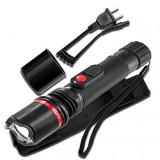 Electrosoc TW-105 cu functie de lanterna LED, pentru auto-aparare, Cu lanterna