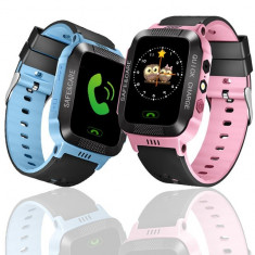 Ceas inteligent copii smartwatch touch screen cu SIM si GPS, camera foto