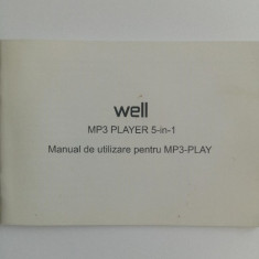 Manual de utilizare MP3-Player 5 in 1, MP3-Play Well