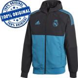 Jacheta Adidas Real Madrid pentru barbati - bluza originala, S, Cu fermoar, Poliester