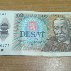 Bancnota Desat Korun 1986 #56668