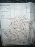 Harta Judetului Teleorman 1981 ,dim.= 134x105 cm ,Ed. Inst. Geodezie si Organiz
