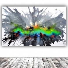 Tablou abstract mare urias pictat manual 160x100x4 cm pictura abstracta, Acrilic