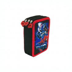 Penar neechipat 3 fermoare Spiderman negru-multicolor SMN04735