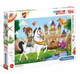 Cumpara ieftin Puzzle Super Color Regatul Magic, 104 piese
