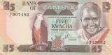 Zambia  5 kwacha  ND 1980  P.-25a   UNC
