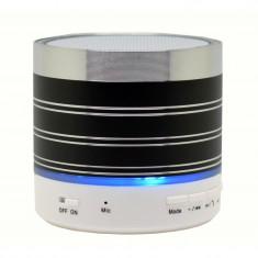 Boxa Portabila Bluetooth iUni DF07, 3W, USB, Slot Card, AUX-IN, Radio, Aluminiu, Negru