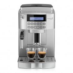 Espressor automat Delonghi Magnifica S ECAM 22.320 SB, 1450 W, 15 bar, 1.8 l, rasnita integrata, 2 duze, avertizare sonora, Argintiu