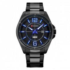 Ceas de mana barbati elegant, negru, Curren Waterproof M8271N