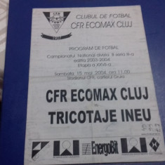 program        CFR  Ecomax  Cluj  -  Tricotaje  Ineu