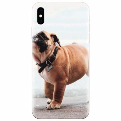Husa silicon pentru Apple Iphone XS Max, Little Dog Puppy Animal foto
