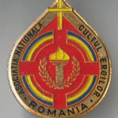Insigna Asociatia Nationala CULTUL  EROILOR
