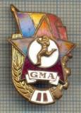 "Y 778 INSIGNA - ,,GMA"" -GATA PENTRU MUNCA SI APARARE -PENTRU COLECTIONARI"